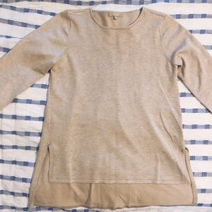 Creamy tan tunic sweater